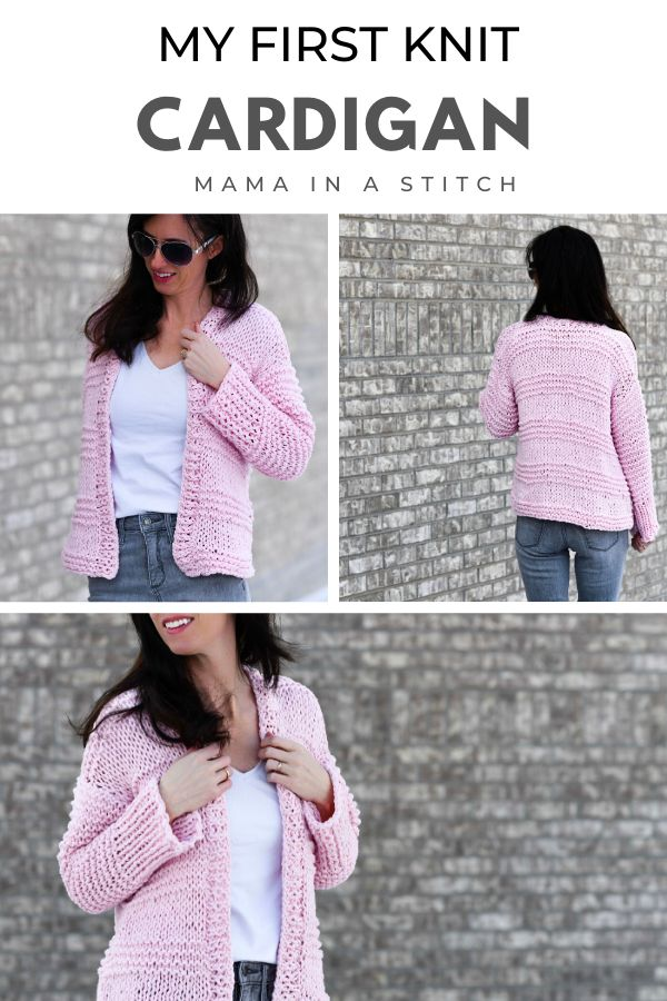 This Cardigan Is Made With Easy Knit Stitches And Is