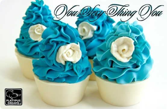 Cupcake Soaps with piped soap roses