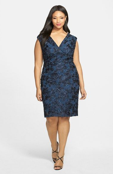 Marina Soutache Embroidered Lace Dress (Plus Size)   Nordstrom