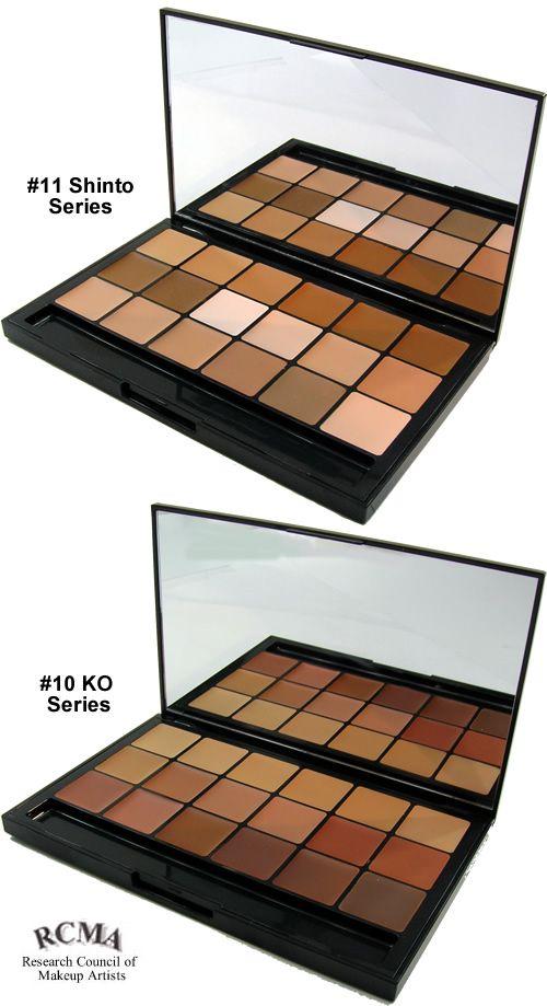 RCMA Foundation multi-shade palettes