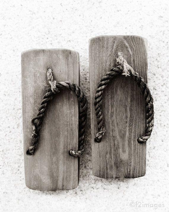Vintage Japanese Sandals, Geta