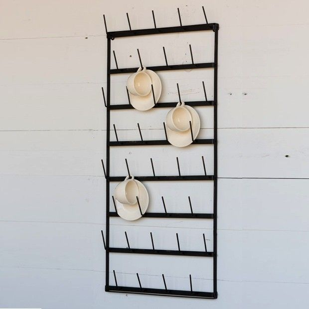 Metal Wall Glass Rack