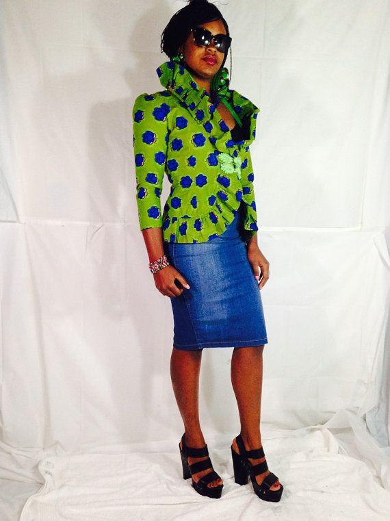 African Blazer/Ankara Jacket/ African Clothing/ by PFABdesigns