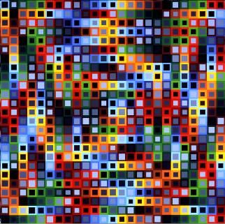 Orion K by Victor Vasarely