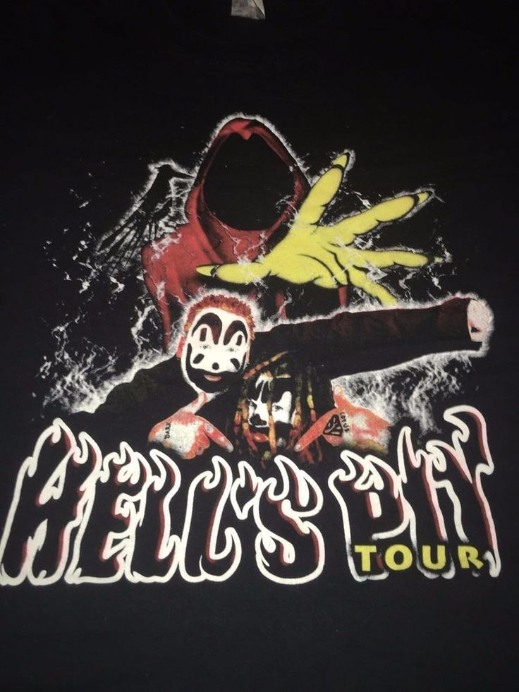 Icp Insane Clown Posse Hells Pit Tour 2004 T Shirt from $10.0