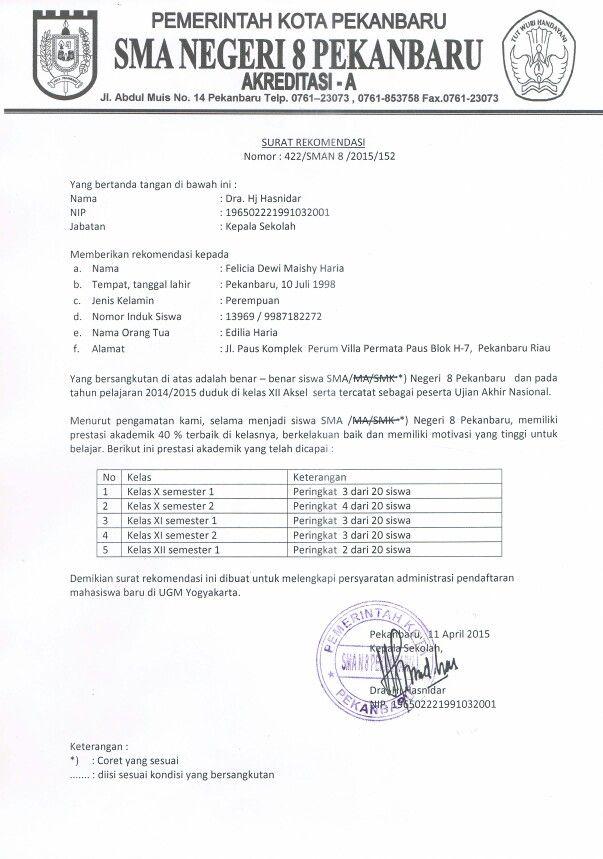 Surat pernyataan PBUK UGM Pinterest - noc certificate for employee
