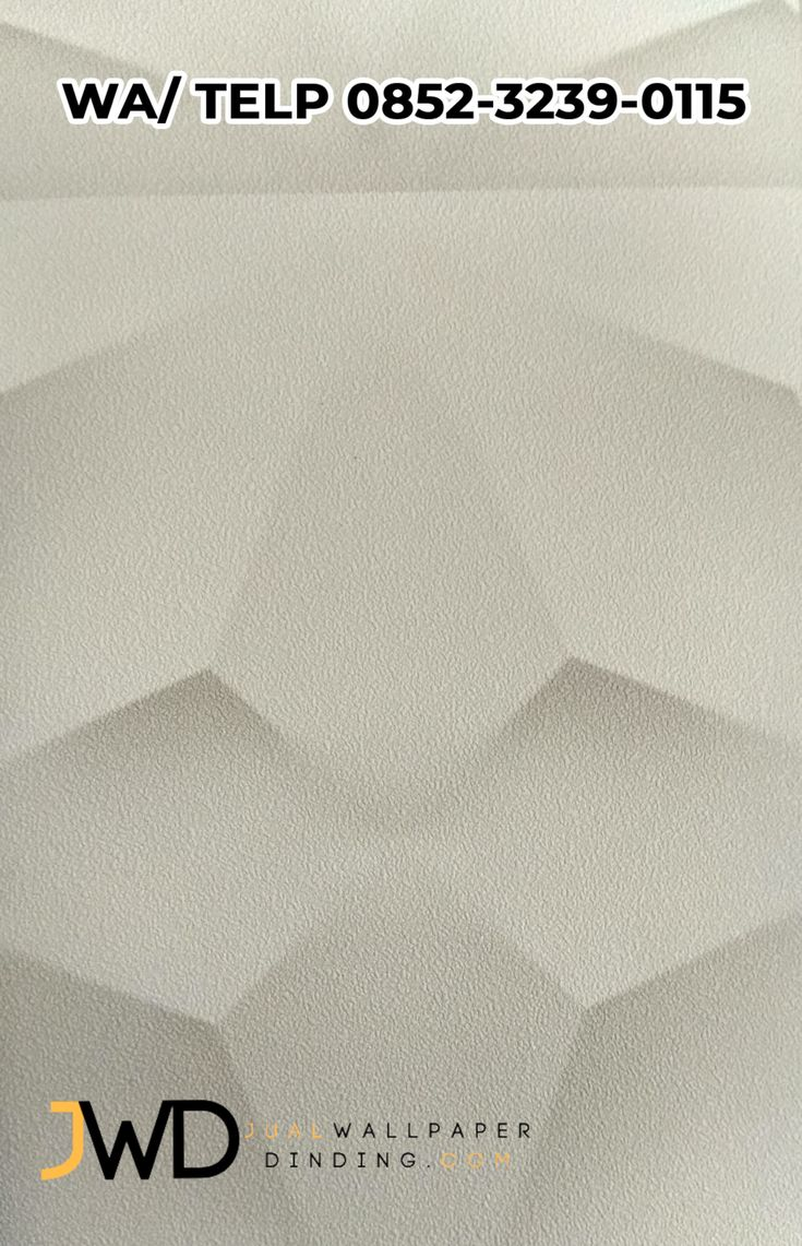 Wallpaper Dinding 3D Putih OT 85001 085232390115 Dinding