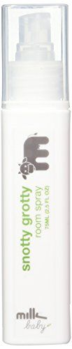 Milk & Co. Baby and Children's Natural Relief Snotty Grotty Room Spray, 2.5 Fluid Ounce (Packaging may vary)  Simple Goodness:  A favorite among parents, Snotty Grotty Room Spray is a unique, all-natural formula that can be an organic replacer for your vaporizer, Snotty Grotty Room Spray can be sprayed throughout your baby's room and on your baby's sleeping bag or blanket.Natural Balance: Camphor oil, chamomile and eucalyptus oil work miracles all night longBaby Friendly: 100 perce..