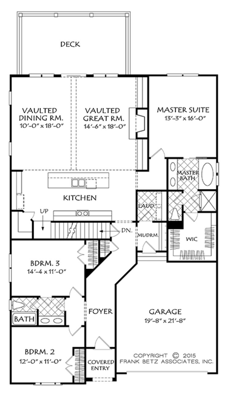 LOVE with second floor and if you make entry less long. Colonial Floor Plan - Main Floor Plan Plan #927-970