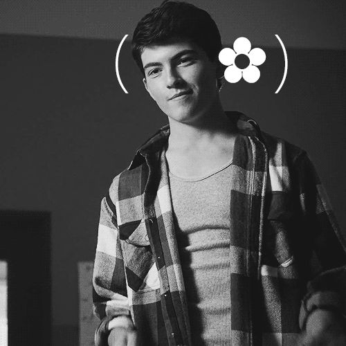 Ian Nelson - could do without the flower addition, but oh well - Cheeky moment from Teen Wolf and a young Derek Hale (GIF)