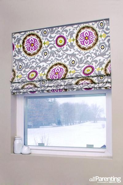 DIY Easy no-sew Roman shades. Going to seriously consider this, got my wheels turning on this idea.