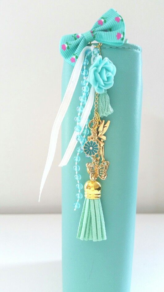 My light teal websters colorcrush, with my handmade planner charms - too pretty!
