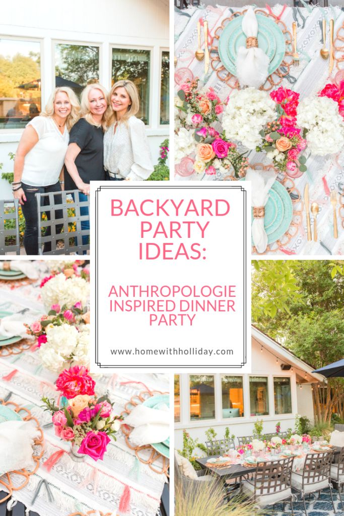 Backyard Party-Ideen: Eine von der Anthropologie inspirierte Dinner-Party