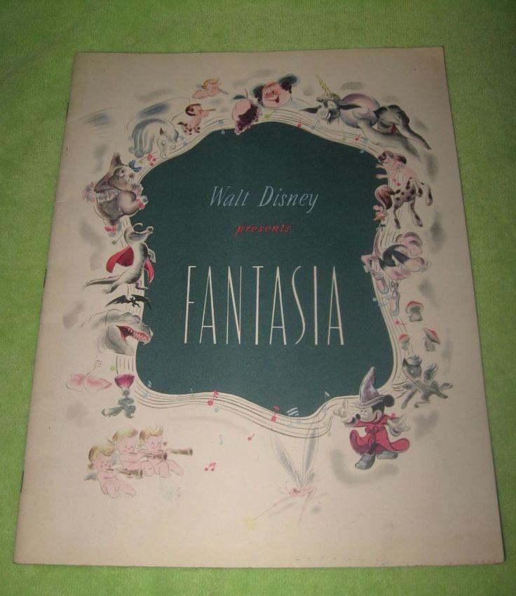 Fantasia 1940 Walt Disney Original Movie Program Book Booklet Leopold Stokowski