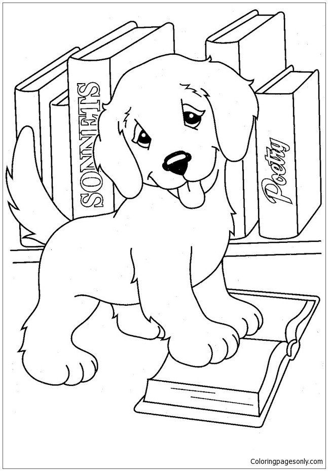 Coloring Pages Of Puppies Puppy Love 2 Coloring Page Free Coloring Pages Line In 2020 Puppy Coloring Pages Dog Coloring Page Coloring Books