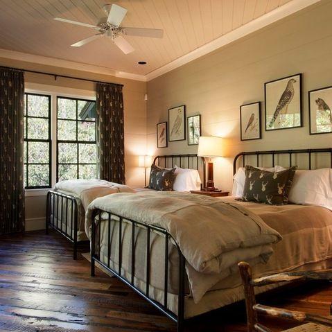 Best Two Queen Beds Boys Bedroom Rustic Bedroom Home 400 x 300