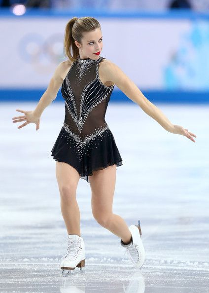 Ashley Wagner of the United States in the Figure Skating Team Ladies Short Program during day one of the Sochi 2014 Winter Olympics.