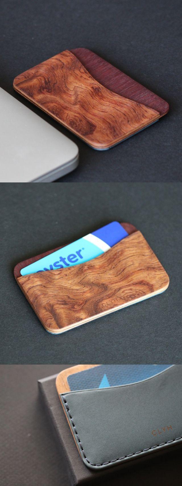 Slim wood wallet designed by IngeniousBros