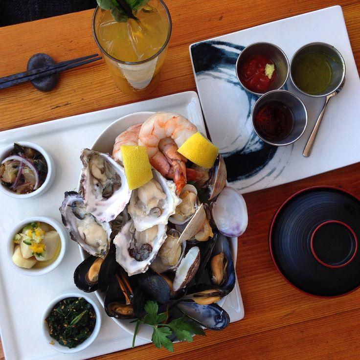 Seafood platter at Miku Restaurant. Very fresh!
