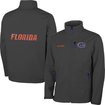 Mens Florida Gators Columbia Gray Ascender Bonded Softshell Jacket