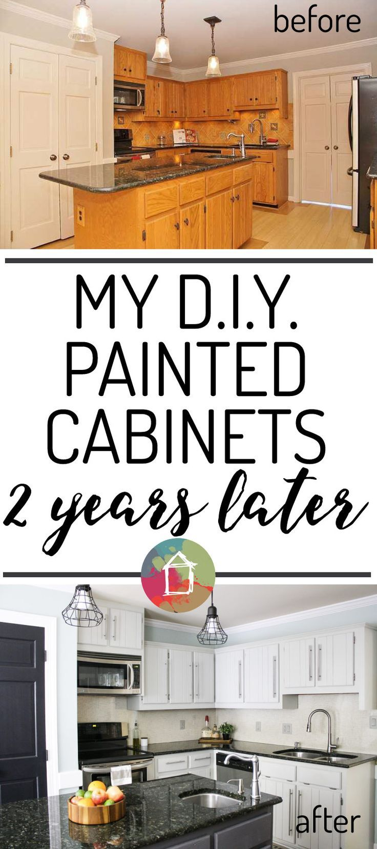 How to paint a vintage buffet home stories a to z - How S It Holding Up Diy Painted Kitchen Cabinets Update