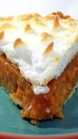 Sweet Potato Pie... Fun to Say, Delicious to Eat.... YEE HAA, this is FANTASTIC.  If you have never had a sweet potato pie you are missing out on one of the great sweet treats of the century (well, last century at least).  Looks a little like a pumpkin pie (they are related), but MUCH richer taste, much sweeter, but much better for you... for a dessert...almost healthy