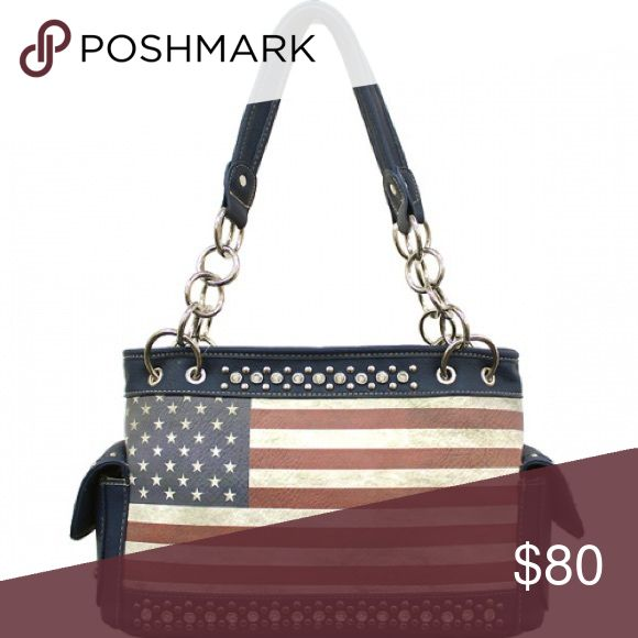 CCW American Flag 🇺🇸 Handbag W/Matching Wallet!! Concealed Carry American Flag 🇺🇸 Handbag W/Matching Wallet!! NWT!! 5 Available!! cowgirl trendy Bags Shoulder Bags