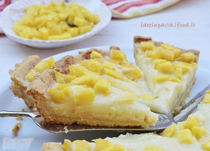 Crostata crema di mango all'acqua