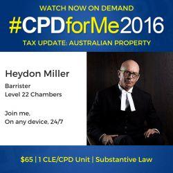 #auslaw $65 GST Aust Property UPDATES @heydondm http://bit.ly/CPD-OZ-PPTY-GST @CPDforMe 1 CPD unit Watch Now On-Demand