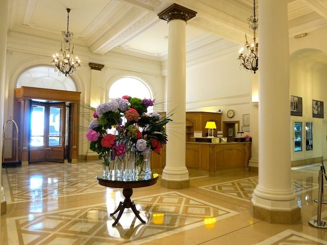 Carlton Hotel Cannes interior - love the flowers