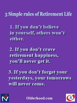 Retirement Rules to bring Peace and Joy !!