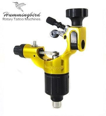 Tattoo Machines and Parts: Hummingbird Aluminum Rotary Tattoo Machine Rca Liner Shader Supply Ink (Gold) -> BUY IT NOW ONLY: $149.99 on eBay!