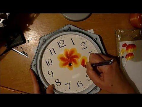 Как переделать старые часы, поэтапный мастер-класс (One Stroke). - YouTube