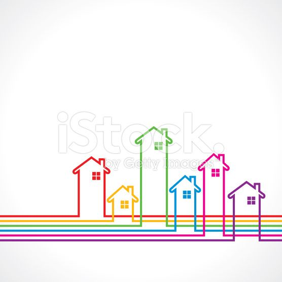 colorful real estate banner background design royalty-free stock vector art