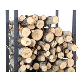 Firewood rack made of metal profiles. It can be easily disassembled.