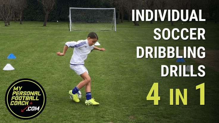 This soccer dribbling drill provides multiple with 4 stages. Improve your dribbling skills, your turns, 1v1 practice