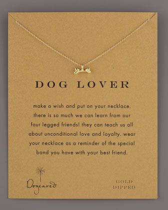 Message Charm Necklaces for Dog Lovers