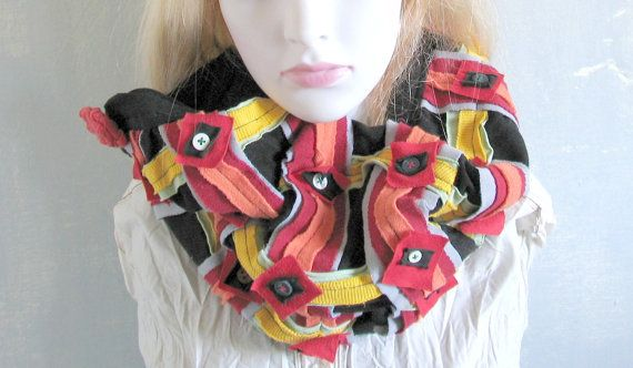 tube scarf neck warmer unisex women men recycled by recyclingroom