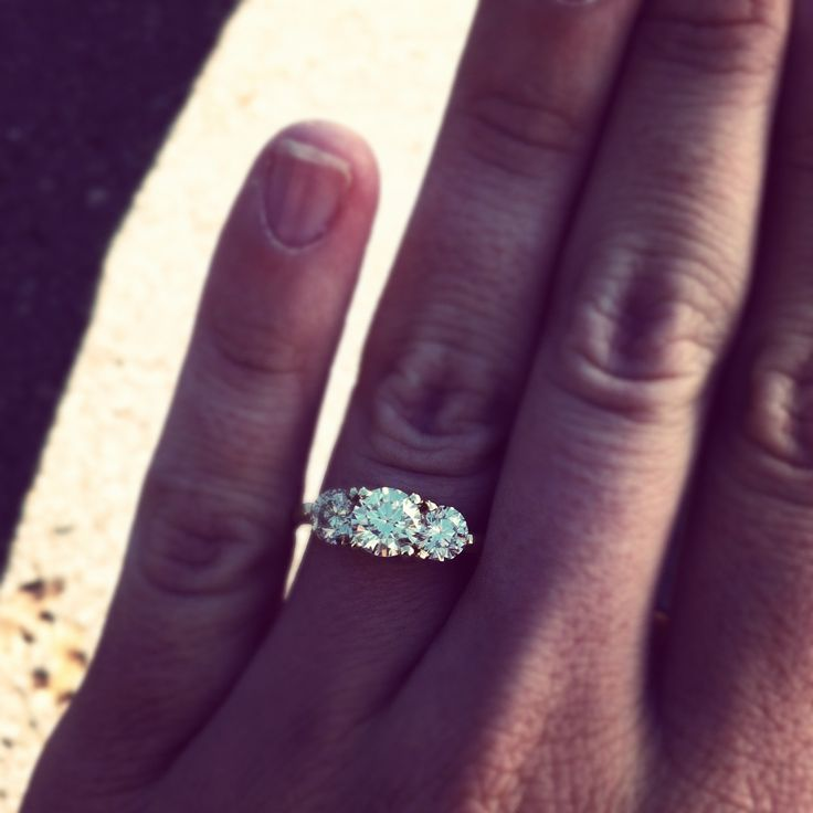 my beauty, three stone diamond engagement ring