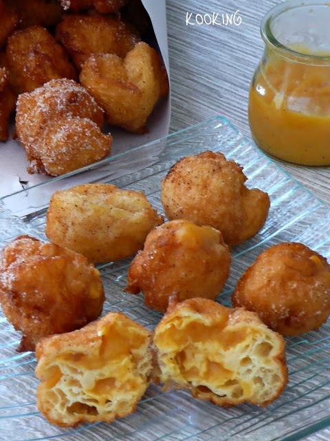 Buñuelos de viento con crema a la naranja