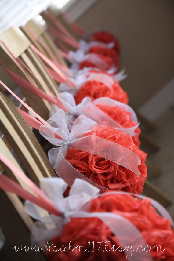 Set Of 24 8 Inch Wide C Rose Wedding Pomanders Reserved For Brynn