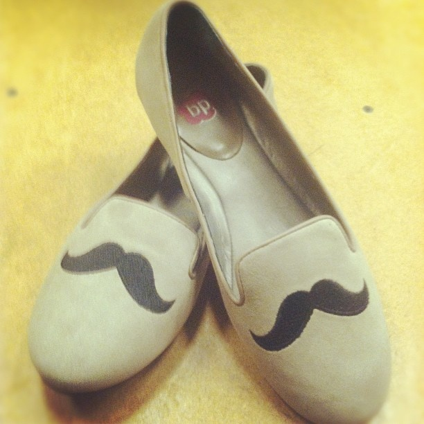 mustache shoes- BP