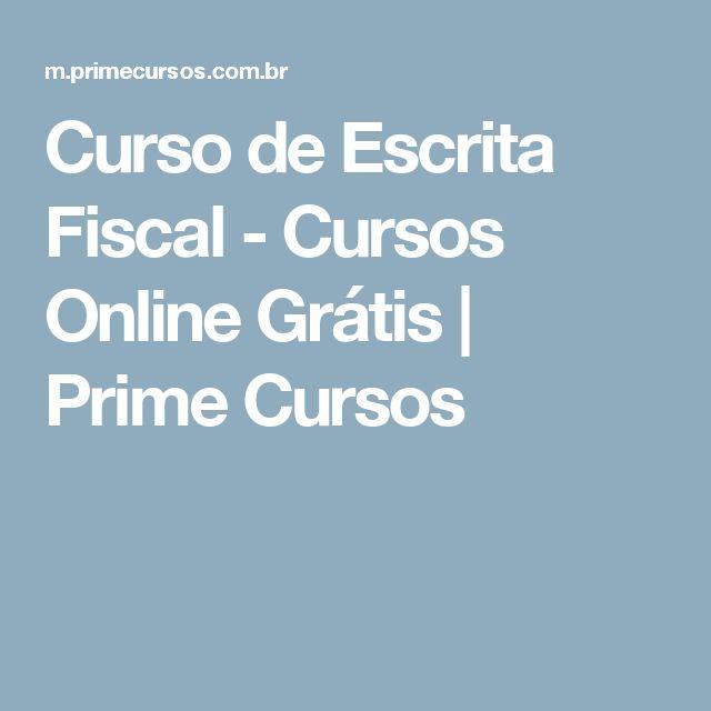 Curso de Escrita Fiscal - Cursos Online Grátis   Prime Cursos