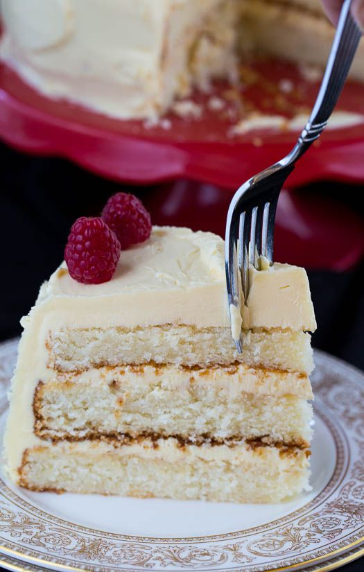 White Cake with Jack Daniel's Buttercream