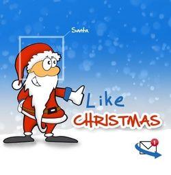 Winterse kerstkaart met kerstman. Grappige Cartoon-kerstkaarten. Kies een mooie kerstkaart, schrijf de tekst, en met een druk op de knop, verstuur je ze allemaal! http://www.kerstkaartensturen.nl/kerstkaarten/kerst-cartoons/