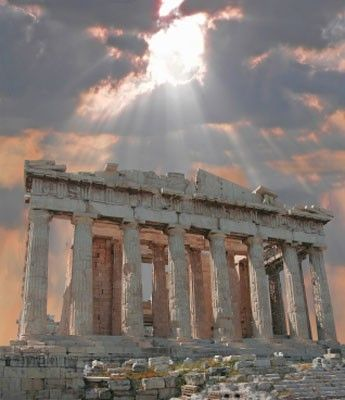 (Hellenic Civilization) - Acropolis of Athens, Athens, Greece. The Acropolis of Athens can be seen as a symbol for the Ancient Greek World, the classical period of the Hellenic civilization