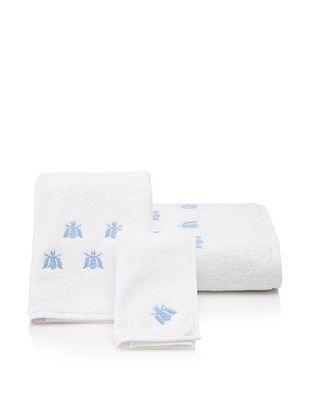 70% OFF Haute Home Bees Terry Towel Set, Blue