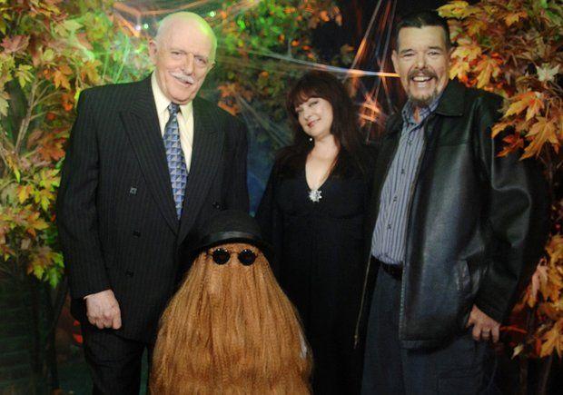 JOHN ASTIN (Gomez), FELIX SILLA (Cousin It), LISA LORING (Wednesday), KEN WEATHERMAX (Pugsley)