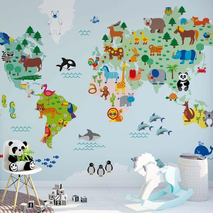Fototapete byGraziela Weltkarte bunte Farben
