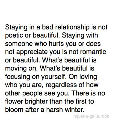 strength to walk away from a bad relationship